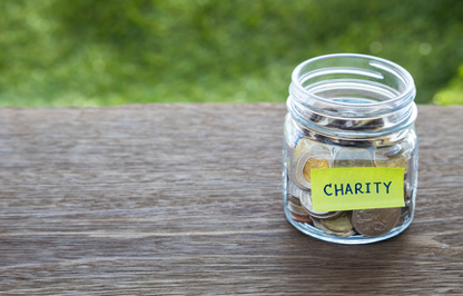 Charity donation jar